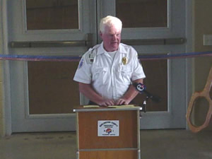 Dick Archer, President of the Fire Association