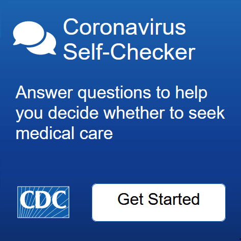Coronavirus self-checker