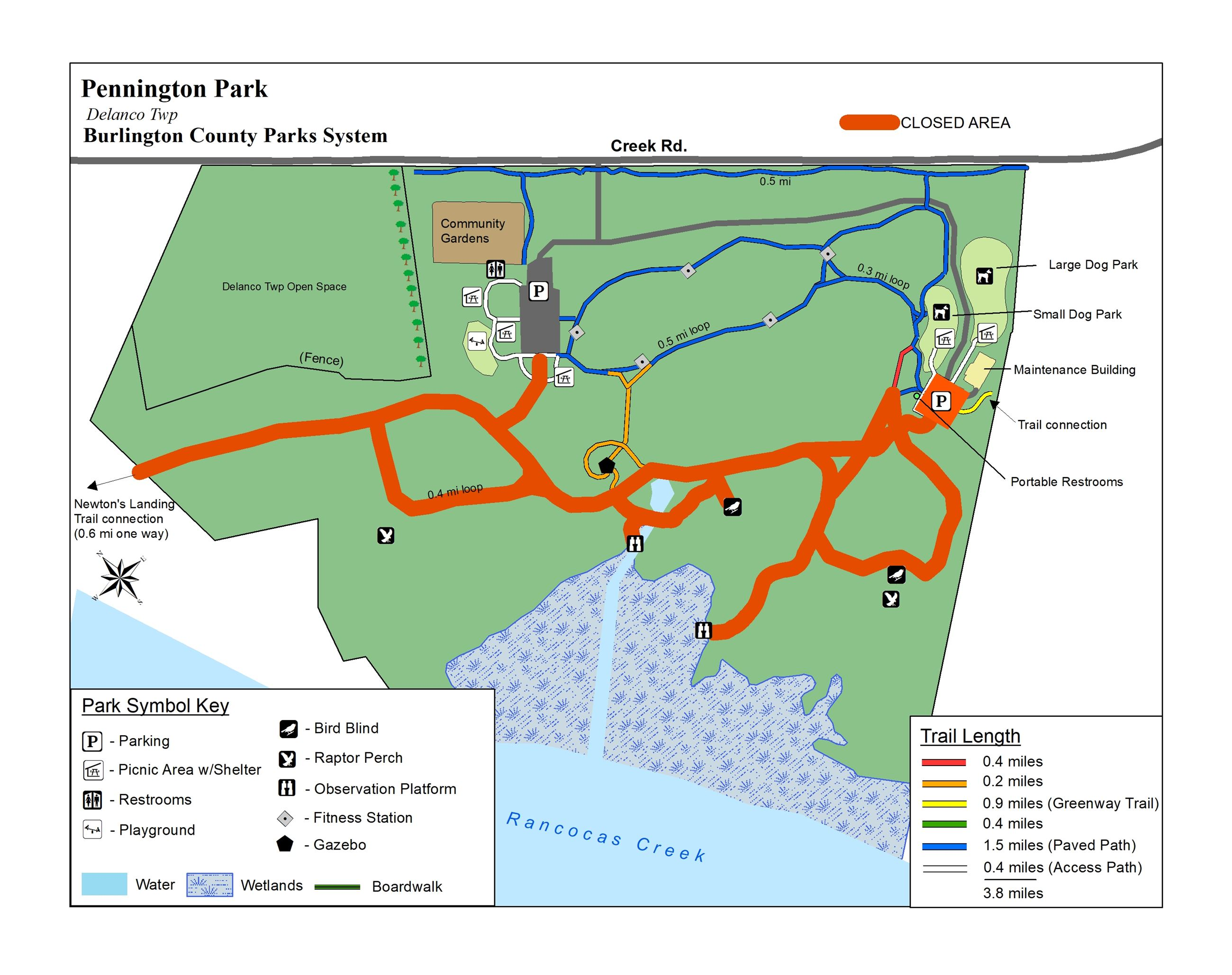 PenningtonTrail Map with closures