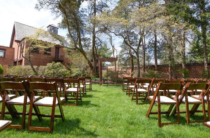 Mansion Wedding Ceremony Set Up