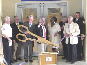 Ribbon Cutting (left to right) Dick Archer, David